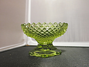 Westmoreland Diamond Hobnail Pedestal Salt Cellar