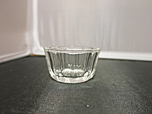 Octagon Shape Round Top Crystal Clear Salt Cellar