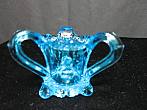 Kemple Glass Pansy Flower Toothpick Holder Marked K