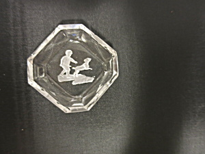 Crystal Clear Intaglio Salt Cellar Boy with Dog (Image1)