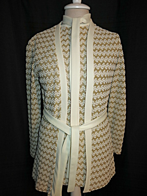 Vintage Sears Fashions Blouse Blazer Jacket Set Size 10