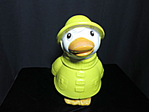 Metlox Pottery Puddles Duck Cookie Jar Usa 1970s