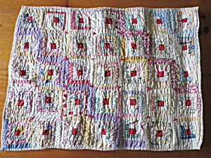 Sample Block Quilt Log Cabin Doll Quilt 15 X 20 About