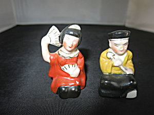 Japanese Geisha Girl and Gent Salt & Pepper Shakers (Image1)
