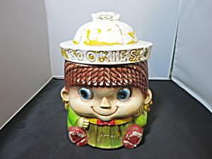 Girl Cookie Jar Sanyel Nagoya Japan Woolworth Imported (Image1)
