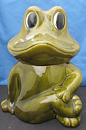 California Originals Frog Cookie Jar 906 USA (Image1)