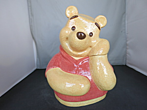 Disney Winnie The Pooh Big Face Cookie Jar 2001