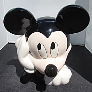 Mickey Mouse Head Cookie Jar Disney