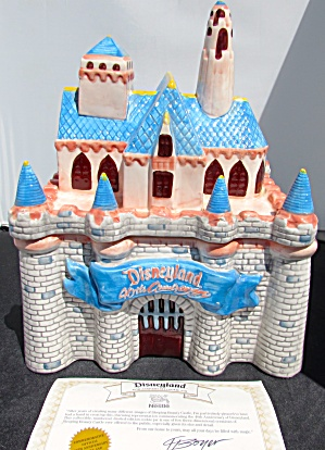 Disneyland 40th Anniversary Castle Nestle Cookie Jar