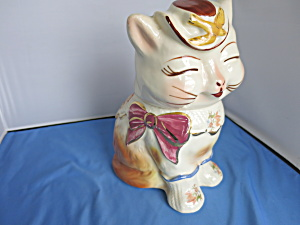 Rare Shawnee Puss N Boots Cookie Jar With Gold Trim Usa