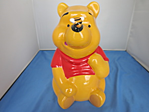 Winnie The Pooh Cookie Jar With Bee On Nose Disney