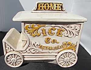Treasure Craft Ice Wagon Cookie Jar