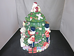 Spode Christmas Tree Cookie Jar Hand Painted