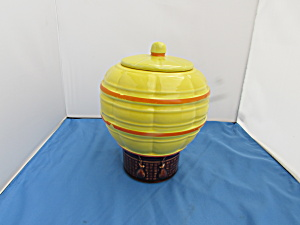 Mccoy Hot Air Balloon Cookie Jar Marked 353 Usa