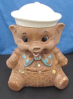 Twin Winton Sailor Elephant Cookie Jar (Image1)