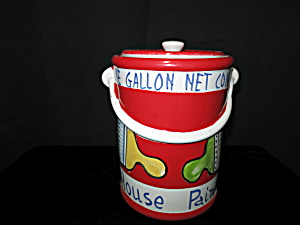 Gallon House Paint Can Cookie Jar Italy Rare Find