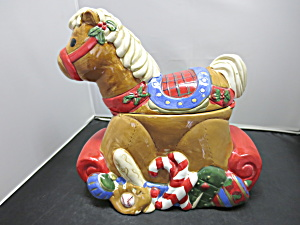 Rocking Horse Cookie Jar Celebrate The Season