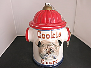 Enesco Cookie Guard Cookie Jar Bull Dog Fire Hydrant