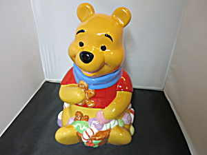 Disney Winnie The Pooh Cookie Jar Christmas Candy Cane