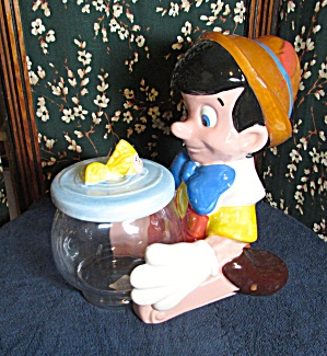 Pinocchio And Cleo Fish Bowl Treasure Craft Cookie Jar
