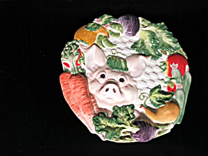 Fitz and Floyd Percy the Pig Canape Plate (Image1)