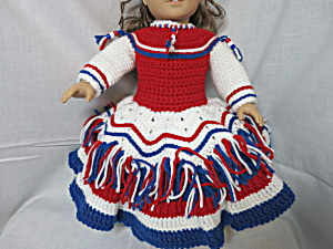 Patriotic Dress Shoes Headband Fits American Doll 18 In