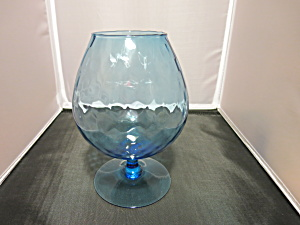 Empoli Diamond Optic Aqua Blue Brandy Snifter Vase