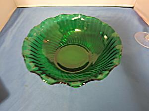 Forest Green Mid Century Ruffle rim Swirl Pattern (Image1)