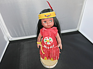 Indian Art Eskimo Girl Doll Canada 7 Inch