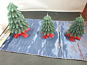 Christmas Tree Candles Set Of Three