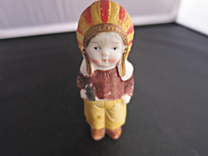 Frozen Charlotte Penny Doll Japan Indian Boy Figurine