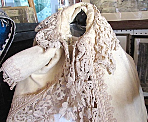 Civil War Baby Cape Cream With Lace Veteran Henry Clark