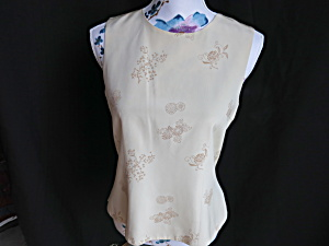 Petite Sophisticate Silk Tank Top Formal Wear Size M