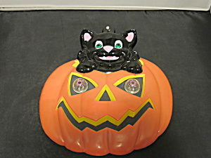 Black Cat Pumpkin Battery Operated Light Up Blinking