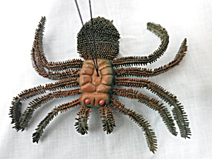 Vintage Spider Insect Hong Kong Rubber Halloween Toy