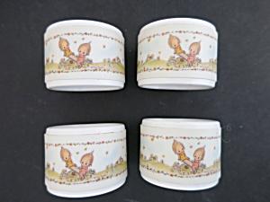 Betsy Clark Melamine Kewpie Kids Napkin Rings 1970s (Image1)