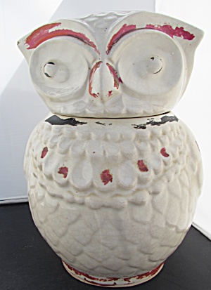 Owl Cookie Jar American Bisque Unmarked (Image1)