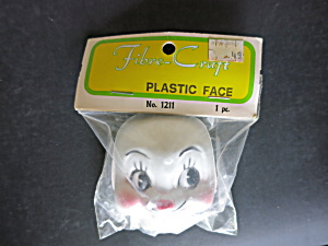 Vintage Rabbit Face Mask Plastic Doll Fibre Craft (Image1)