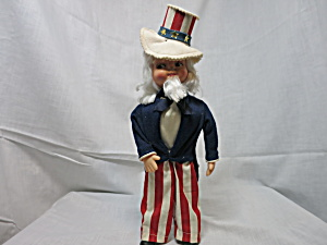 Vintage Uncle Sam Doll Hand Crafted Face Mask Doll