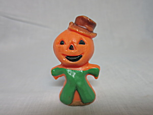 Vintage Gurley Pumpkin Man Candle Used