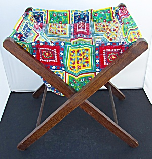 Vintage Folding Sewing Knitting Caddy Tote (Image1)
