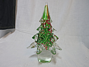 Cased Blown Glass Christmas Tree Celebrations