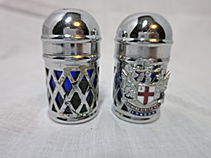 London Souvenir Cobalt Blue Salt And Pepper Shakers