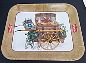 Coca Cola Serving Tray Picnic Basket 1958
