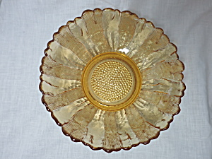 Anchor Hocking Country Estate Honey Gold Console Bowl