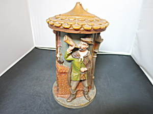 German Figural Candle double carved painted mid century (Image1)