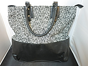 Vintage Merona Tote Bag Black And White