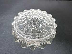 Vintage Pressed Glass Powder Jar (Image1)
