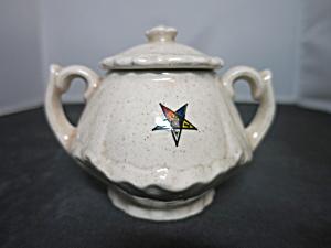 Vintage Eastern Star Sugar Bowl marked B & O  (Image1)