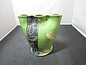 Art Pottery 3 Three Hole Bud Vase Signed (Image1)
